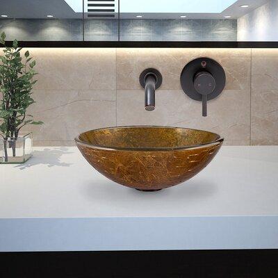 Vigo Glass Vessel Bathroom Sink with Olus Wall Mount Faucet