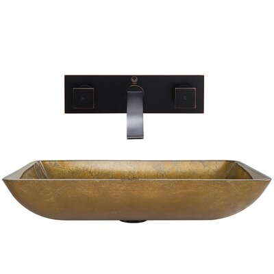 ... Vessel Bathroom Sink with Titus Wall Mount Faucet & Reviews Wayfair