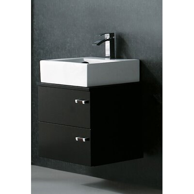 "Vigo Calida 21.63"" Wall Mounted Bathroom Vanity Set"