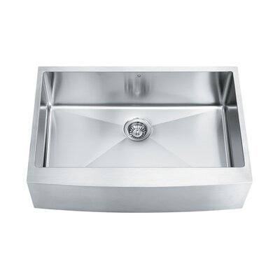 "Vigo 33"" x 22.25"" Single Bowl 16 Gauge Farmhouse Kitchen Sink"