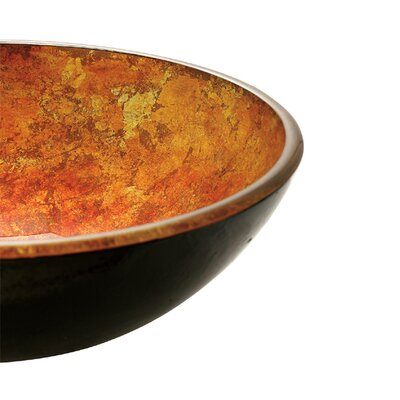 Vigo Autumn Tempered Glass Vessel Sink