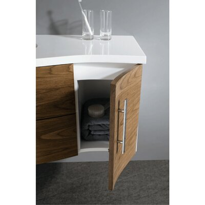 "Vigo Distinct 44"" Wall Mounted Bathroom Vanity Set"