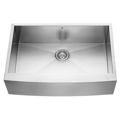 "Vigo 33"" x 22.25"" Farmhouse Kitchen Sink"