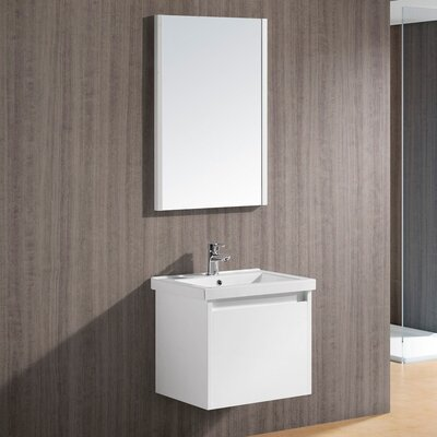 "Vigo Bianca 23.5"" Single Bathroom Vanity Set"