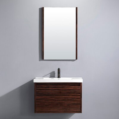 Vigo Espresso Petit 32' Single Bathroom Vanity Set