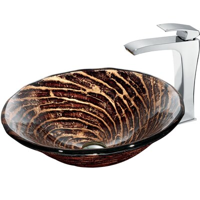 Caramel Vessel Sink with Faucet - VGT184