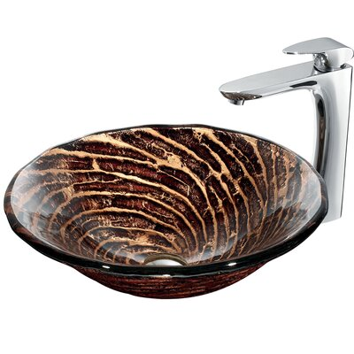 Caramel Vessel Sink with Faucet - VGT188