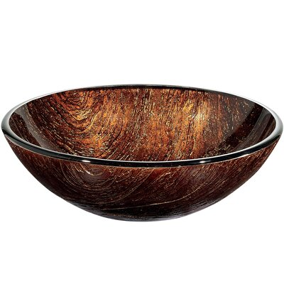 Vigo Kenyan Twilight Above The Counter Tempered Glass Vessel Sink