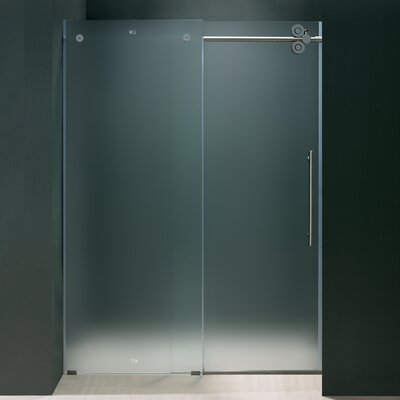 Vigo Frameless Sliding Frosted Right Side Shower Door