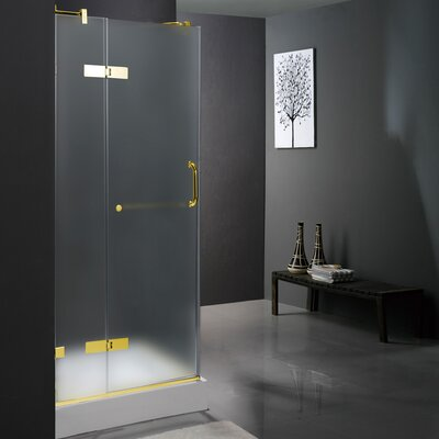Vigo Pivot Door Frameless Shower Enclosure with Base
