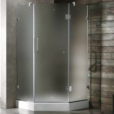 Vigo Neo-Angle Door Frameless Shower Enclosure with Base