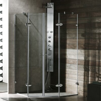 Vigo Neo-Angle French Door Frameless Shower Enclosure