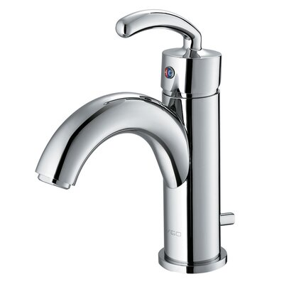 Vigo Single Hole Bathroom Faucet with Single Scroll Handle - VG01025