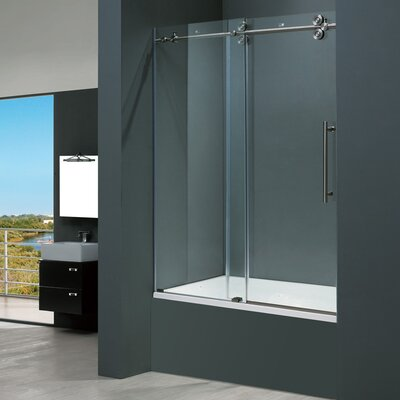 Vigo Frameless Sliding Tub Tub Clear Door