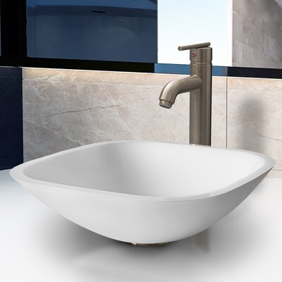 Stone Glass Vessel Bathroom Sink with Faucet - VGT206 / VGT207
