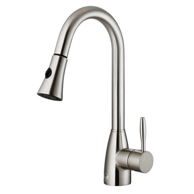 vigo one handle single pull out spray kitchen faucet