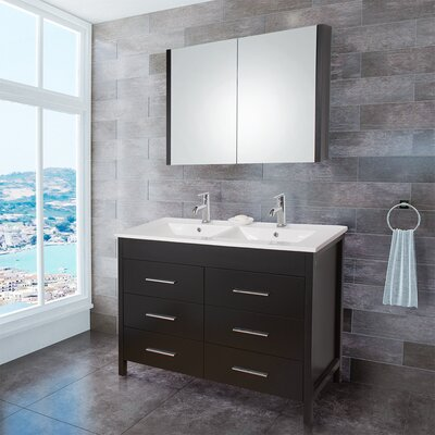 "Vigo Maxine 47.63"" Single Bathroom Vanity Set"
