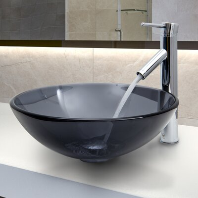 Glass Vessel Sink with Faucet - VGT250 / VGT263
