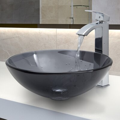 Glass Vessel Sink with Faucet - VGT252 / VGT265