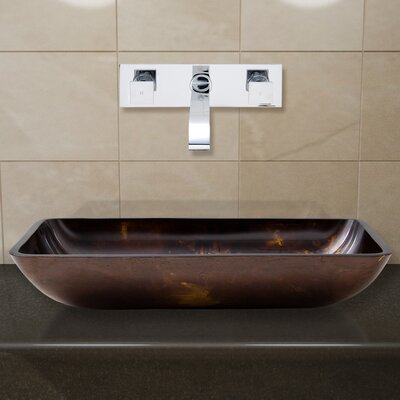 Glass Vessel Sink with Wall Mount Faucet - VGT28