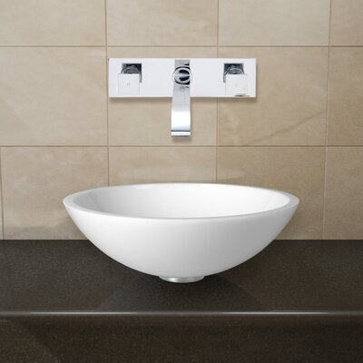 Phoenix Stone Glass Vessel Sink with Wall Mount Faucet - VGU2203