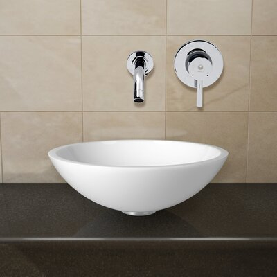 Phoenix Stone Glass Vessel Sink with Wall Mount Faucet - VGU2199