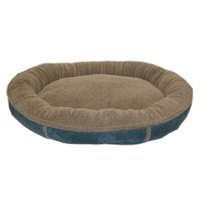 Everest Pet Faux Suede Round Comfy Cup Donut Dog Bed