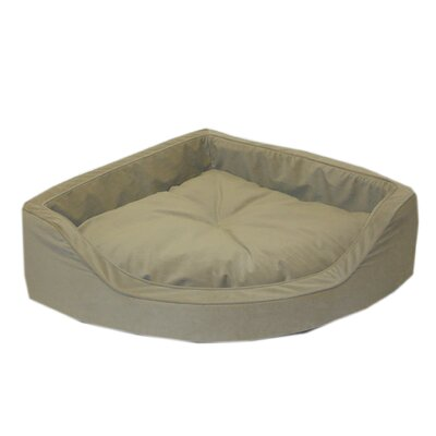 Microfiber Corner Pet Bed in Sage