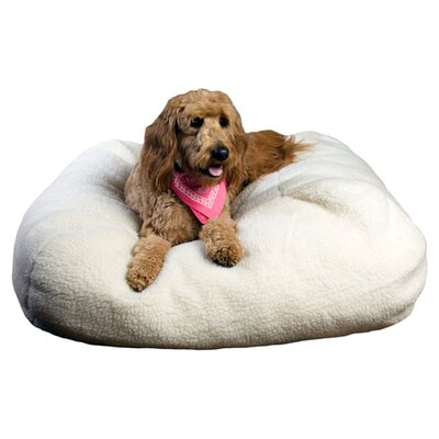 Zoey Tails Sherpa Puff Ball Dog Pillow