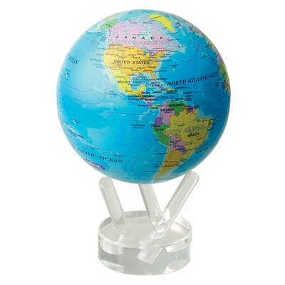 "MOVA Globes 4.5"" Blue Oceans with Political Map Globe"