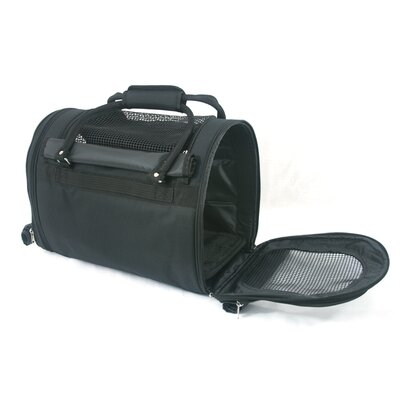 Prefer Pets Covered Pet Carrier in Black