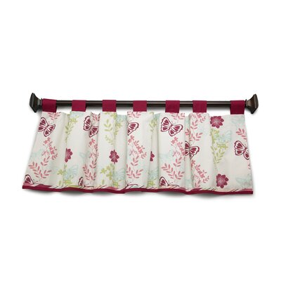 NoJo Alexis Garden Tab Top Tailored Curtain Valance