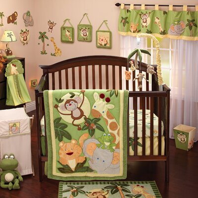 Jungle Babies Crib Bedding Collection
