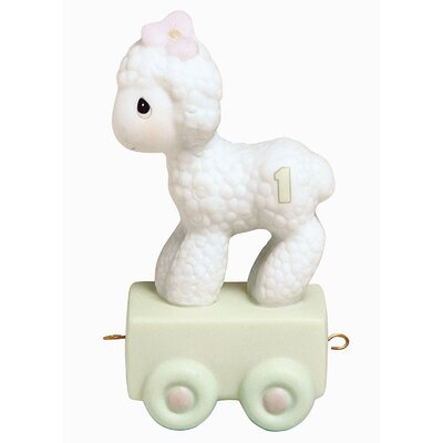 "Precious Moments ""Birthday Train Happy Birthday"" Little Lamb Figurine"