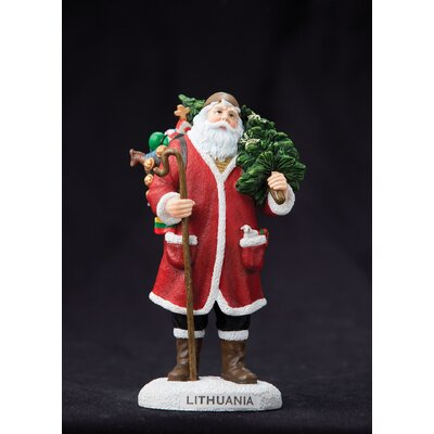 "Precious Moments ""Lithuania"" Lithuania Santa Figurine"
