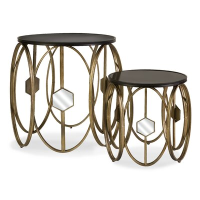 IMAX Hexicomb 2 Piece Nesting Tables