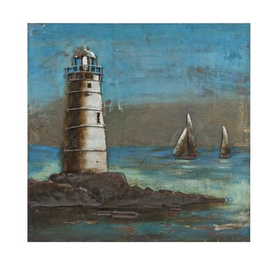 Lighthouse Dimensional Metal Art