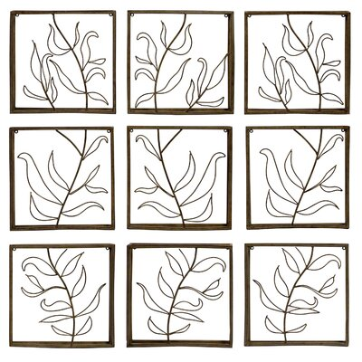 Vine Wall Decor Panels (Set of 9)