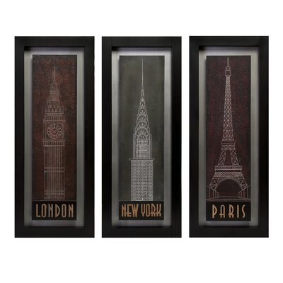IMAX Journeys 3 Piece Framed Graphic Art Set