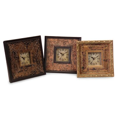 3 Piece Tiempo Trio Framed Clock Set