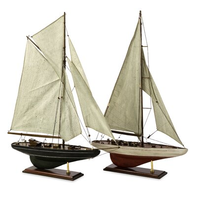 IMAX Antiqued Sailing Vessel (Set of 2)