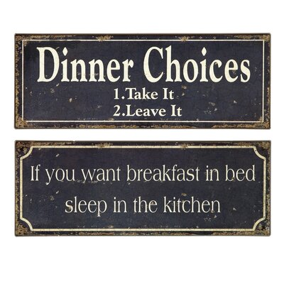 IMAX 2 Piece Breakfast and Dinner Sign Set