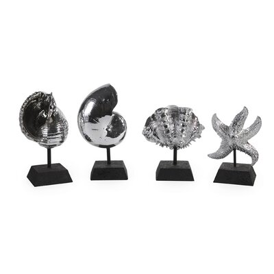 IMAX Seashells in Silver (Set of 4)