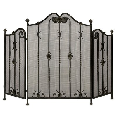 IMAX 3 Panel Iron Fireplace Screen