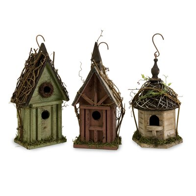 IMAX Carthage Bird Houses (Set of 3)