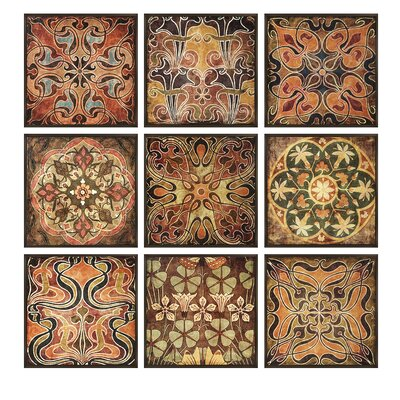 Tuscan Wall Panels, Individually Framed (Set of 9)