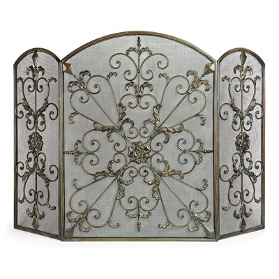 Royal 3 Panel Wrought Iron Fireplace Screen