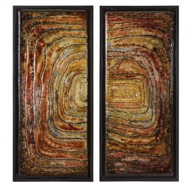 Collage Glass Wall Decor (Set of 2)