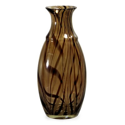 Medium Brown Swirl Vase