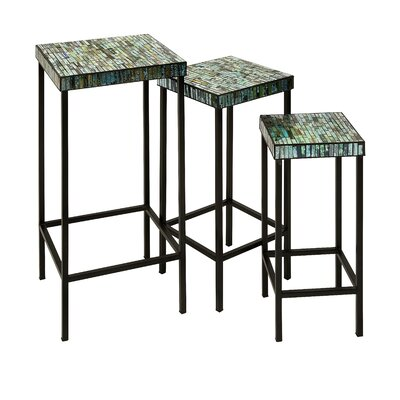 <strong>IMAX</strong> Aramis Mosaic End Table (Set of 3)